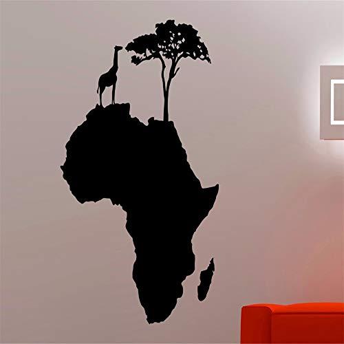 too Afrikanische Tier Baum Karte Dekorationen Home Wohnzimmer Schlafzimmer Dekor Vinyl Kunst Abnehmbare Aufkleber lila 40x57 cm ()