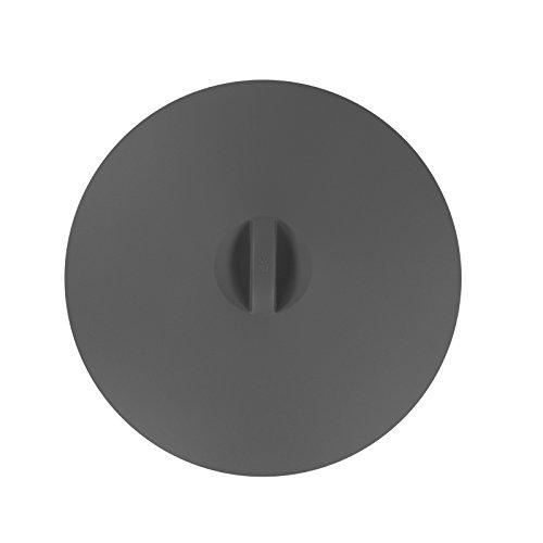WMF 29cm zum Abdecken von Töpfen, Tellern, Schüsseln UVP:19,99 Universaldeckel, Silikon, Grau, 29x29x3 1