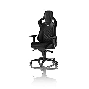 31gogeOT5QL. SS300  - noblechairs EPIC Gaming Chair - Office Chair - Desk Chair - PU Faux Leather - 120kg - 135° Reclinable - Lumbar Support Cushion - Racing Seat Design - Black