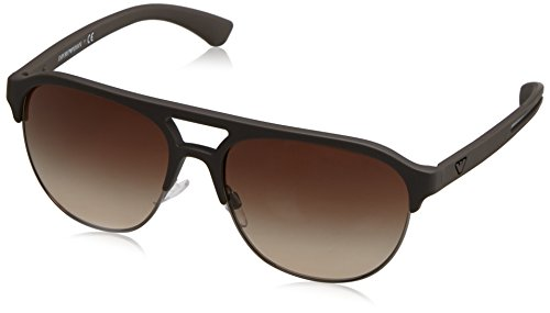 Emporio Armani Unisex-Erwachsene Earmani 4077 Sonnenbrille, Braun (Brown 530513), 58