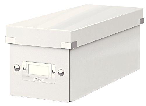 Leitz CD Aufbewahrungsbox, Weiß, Mit Deckel, Click & Store, 60410001