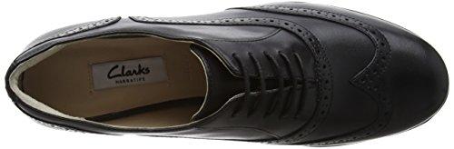 Clarks Hamble Oak 203586724 Damen Schnürhalbschuhe Schwarz (Black Leather)