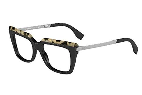 Fendi Montures de lunettes 0088 Pour Femme Tortoise / Black / Ruthenium CU1: Tortoise / Black / Ruthenium