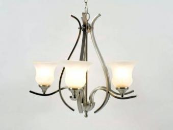 aniba Design Edler 5-flammiger Kronleuchter Maße ca. Durchmesser 65 cm, Silber von aniba Design