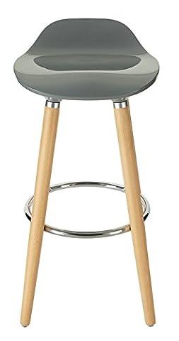 Orolay Tabouret de bar cuisine avec repose-pieds haute qualité (gris)