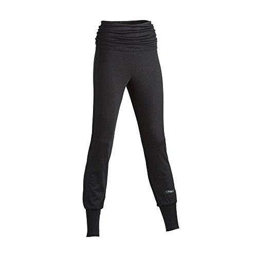 1ba446c23424 ENGEL SPORTS Damen Yoga Hose Bio-Schurwolle Seide Elasthan, Black, Gr