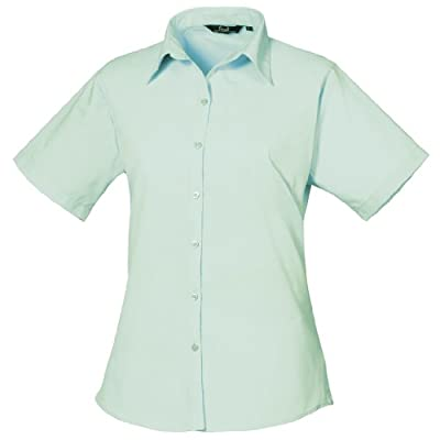 Premier Workwear Ladies Short Sleeve Poplin Blouse