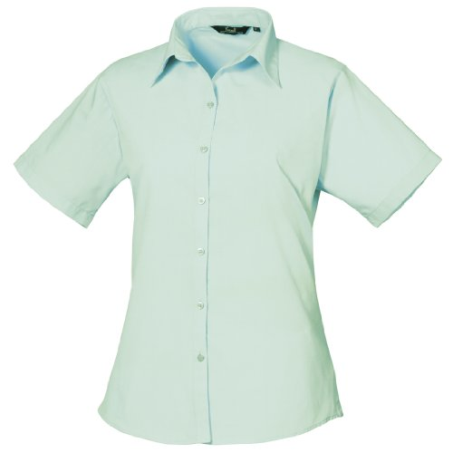 Premier Workwear Ladies Short Sleeve Poplin, Blouse Femme