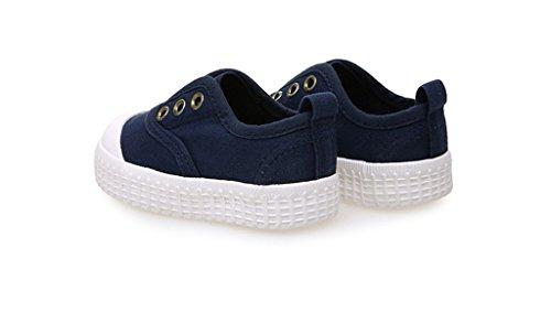 ALUK- Baby Schuhe - Kinder Leinwand Schuhe Lernen Lazy Schuhe Casual Schuhe ( Farbe : Dunkelblau , größe : 34 ) Dunkelblau