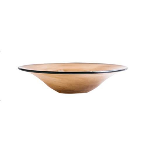 HR 480 ml Glas Strohhut Suppen-/Müslischüssel 3 Farben Optional kreative Keramikschüssel braun Scorpion Bowl