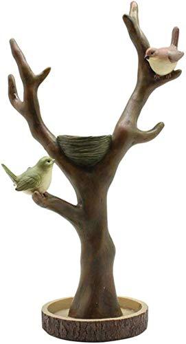 Ertyuk-Decor Dekoartikel Tierstatuen Gartenfiguren Desktop Schmuckständer Vogelzweig Schmuckständer Halskette Ohrringe Uhr Aufbewahrungsregal Harz Desktop Handwerk-B