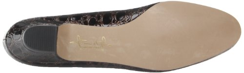 Soft Style by Hush Puppies Angel II Breit Rund Synthetik Stöckelschuhe Dark Brown Crocodile