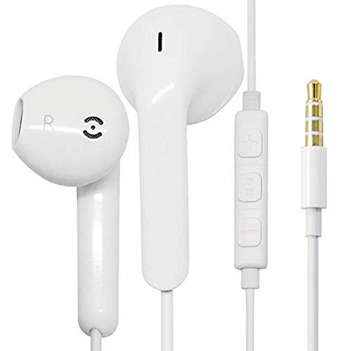 dzgreat In-Ear Cuffie Auricolari con Telecomando e Microfono per Apple iPhone6 6s 6 Plus 5 5s 5c 4s 4 iPad iPod Samsung Huawei Android e Altri Smartphone