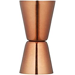 BarCraft Double-Sided Stainless Steel Spirit Measure and Cocktail Jigger - Copper Finish