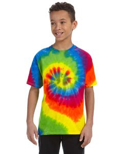 Youth 5.4 oz., 100% Cotton Tie-Dyed T-Shirt MOONDANCE S (Youth Dyed T-shirt Cotton)