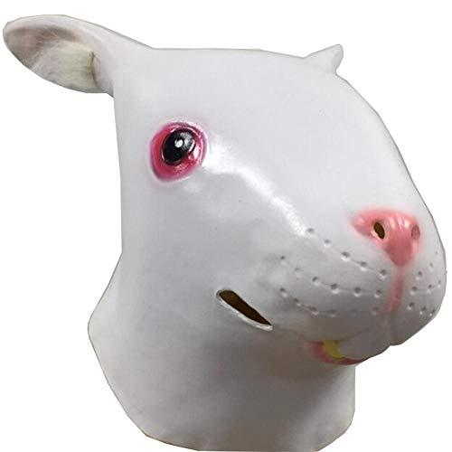 Rwdacfs Masken für Erwachsene,Hase-Perücke Make-up ()