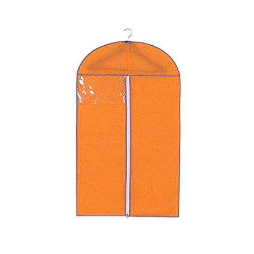 Providethebest Vêtements antipoussière Couverture Non tissé Robe Protecteur Manteau de poussière Couverture de vêtement Costume poussière Hanging Sac de rangementOrange