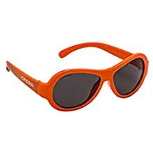 Cressi Unisex-Youth Scooby Children's Sunglasses Polarized 100% UV Protection, Orange/Lens Mirrored, 0-2 Years