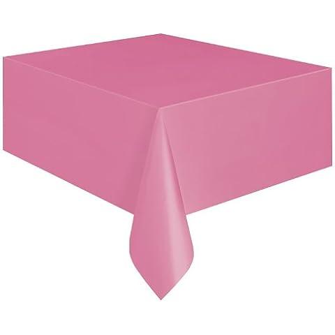 Mantel rectangular rosa plástico