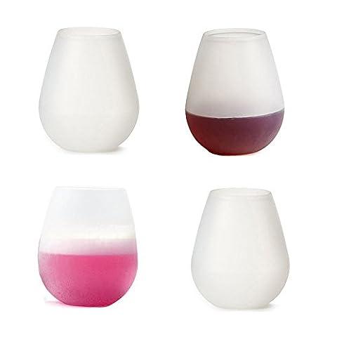 Casa Bonita Silicone Wine Glasses 12oz Set of 6 Drinking Set Unbreakable Silicone Wine Glasses FDA Grade Reusable Silicone Glasses Shatterproof Party Cups, Drinkwares (4
