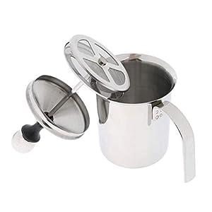 Sharplace Montalatte Produzione Schiuma Latte Caffe Froth a Doppia Parete Vassoio Utensili Cucina Caffettiera - 400ml