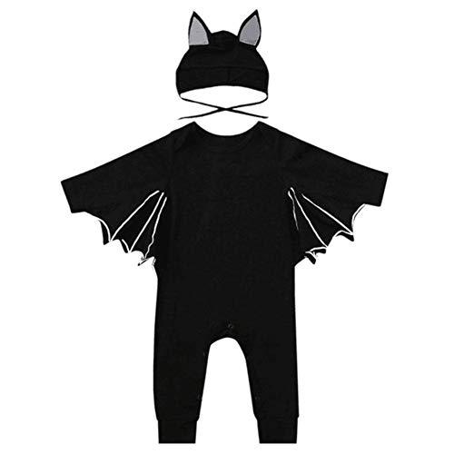 Unbekannt PER 2pcs Baby Bat Form Overalls Set Halloween Kostüm Strampler für Kinder-90