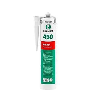 Ramsauer 450 Sanitär weiß 1K Silikon Dichtstoff 310ml Kartusche
