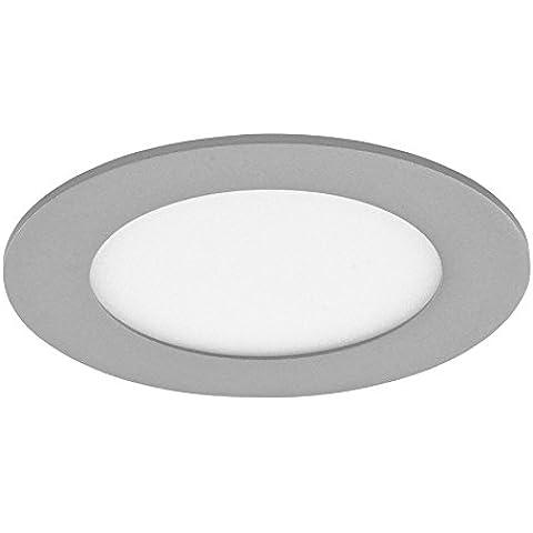 CristalRecord 02-007-18-181 - Foco downlight, LED extraplano, redondo, 20 W, luz neutra, 4000° K, color gris
