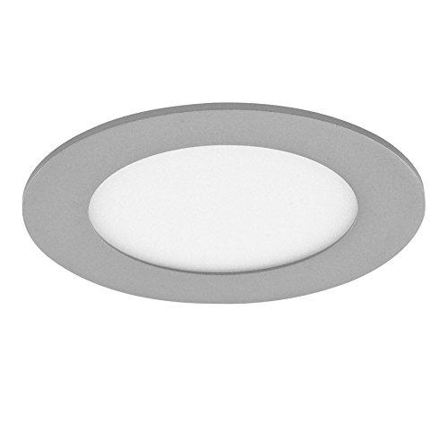 CristalRecord 02-007-18-181 - Downlight LED-Strahler, extrem flach, rund, 20 W, neutrales Licht, 4.000° K, grau - Runde 4 Licht