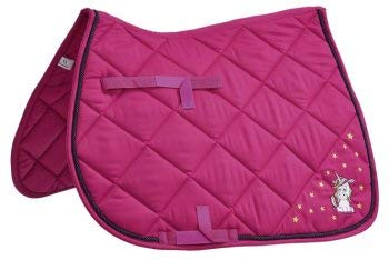 Busse Schabracke EINHORN Vollblut/Warmblut Dressur pink