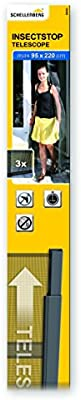 Schellenberg 50655 - Cortina telescópica de protección anti insectos para puertas
