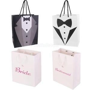 Alcoa Prime 4x Fashion Bride Bridesmaid Groom Tuxedo Wedding Party Paper Gift Bag Handle