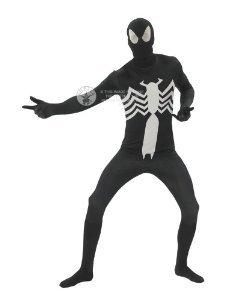 SPIDERMAN ~ Black Spider-Man™ - Adult 2nd Skin Costume Men : (Spiderman Kostüm 3 Black)