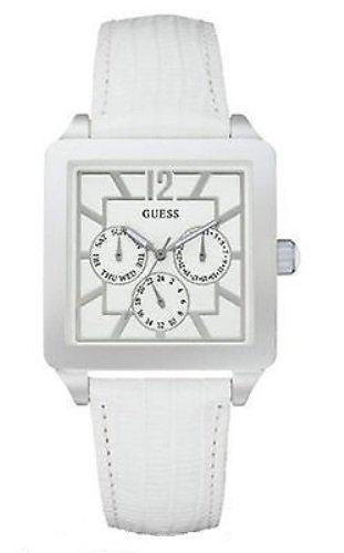 GUESS LADIES SOPHISTICATE WHITE LEATHER WATCH - W10595L1