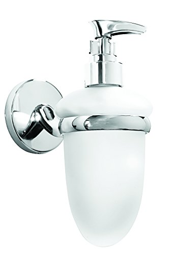 Croydex Hampstead Wall Mounted Soap Dispenser with Zinc Alloy Construction, Chrome