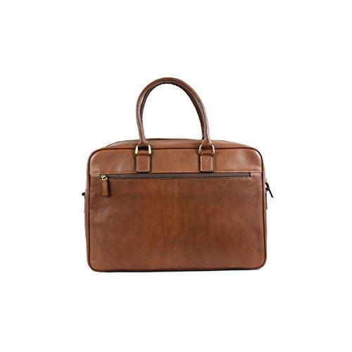 Dream Leather Bags Made in Italy Cuir Véritable Cartable Business En Cuir Au Tannage Végétal Couleur Brun - Maroquinerie Fait En Italie - Ligne Prestige