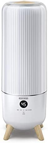 Black+Decker 6L Digital Humidifier with Remote Control, White - HM6000-B5, 2 Years Warranty