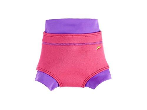 Speedo Baby Badeanzug Swimnappy Cover, Purple Rain/Raspberry Fill, 12-18, 8-092169215