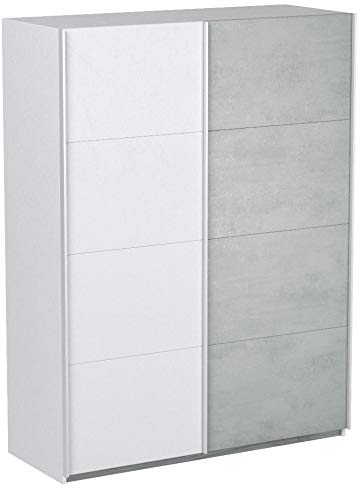 Habitdesign ARM154A - Armario Dormitorio ropero, Armario 2 Puertas correderas Color Blanco...