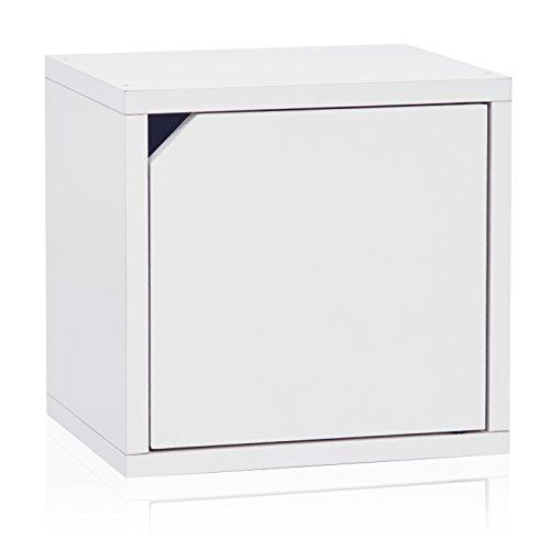 Way basics 9 Modulares 3-in-1 Shelf Connect Cube Storage System, weiß (werkzeuglose Montage und einzigartige Verarbeitung aus nachhaltiger ungiftiger zBoard-Kartonage), Recycled paperboard, One Size - Cube Storage-system