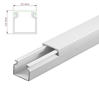 SCOS Smartcosat AVC-180 30m Kabelkanal Weiß zum verschrauben 30x 100cm 12x12mm Deckenkanal bestehend aus Unterteil und Oberteil zur Montage direkt auf der Wand
