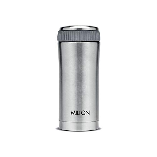 Milton Thermosteel Optima Flask, 350ml, Steelplain,Silver