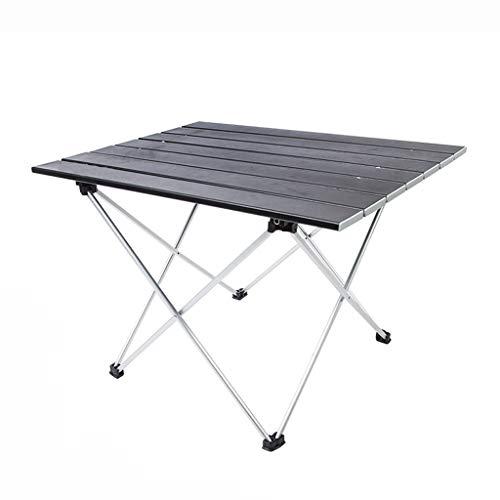 Nosterappou Table pliable et facile à transporter, table de pique-nique ultra-légère portable pliante portable en alliage d'aluminium pour l'extérieur, table carrée de camping simple, traitement de pu