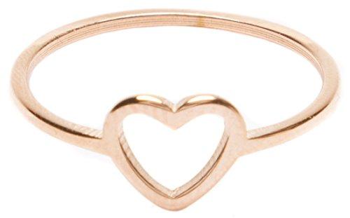 amen Herz Ring Minimalist | Zarter Damenring mit Rosegold Überzogen ()