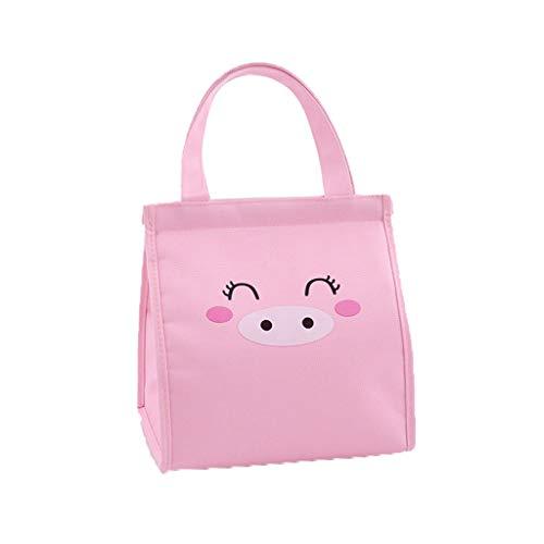 KonJin Kühltasche klein Kühlbox faltbar Lunchtasche Mittagessen Tasche Thermotasche Isoliertasche Picknicktasche für Kinder 22x19x23cm