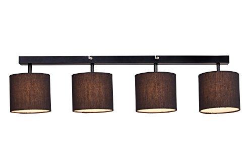 Plafoniera Tessuto Design : Plafoniera moderna 4 luci paralume in tessuto g9 max. 40 w
