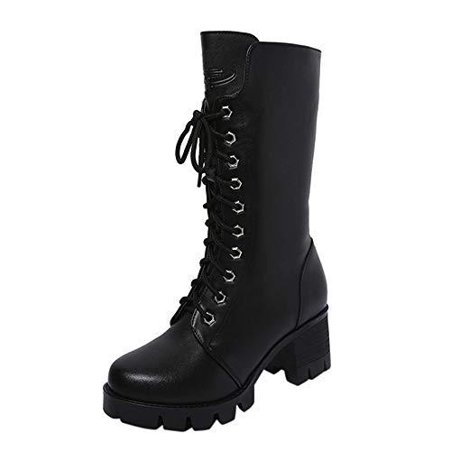 ZARLLE_Botas Zapatos Mujer Botines de Mujer 2019 Botas para Mujer Invierno de Vestir Botas con cuña...