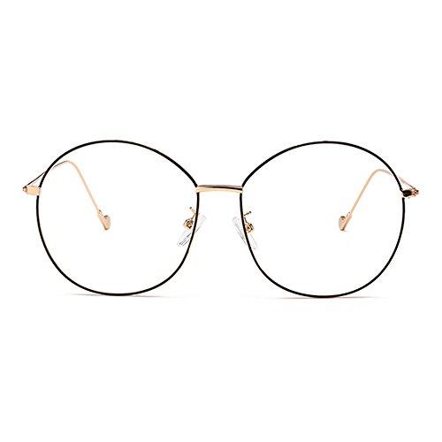 Natwve&Co Oversized Metal Frames Vintage Men Women Eyeglasses Retro Round Circle Glasses