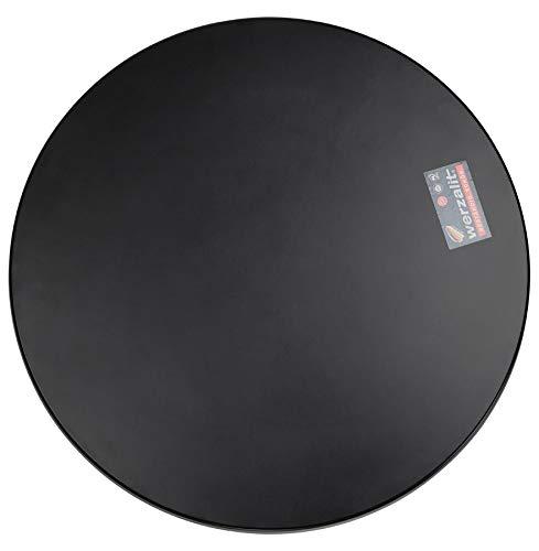 Alterego Plateau de Table 'Punto' Rond Noir intérieur/extérieur - Ø 70 cm