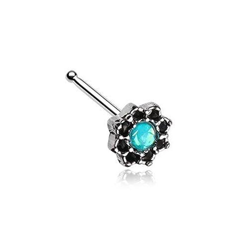Lotus Opal Sparkle filigranen Icon Nase Ohrstecker Ring 316L chirurgischer Stahl